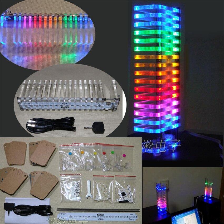 buy diy kit light cube led music spectrum level display electronic production. Black Bedroom Furniture Sets. Home Design Ideas