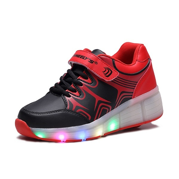 Novo 2016 Moda Infantil Meninas Juniores Meninos LED Luz Patins Calçados Para Crianças Caçoa As Sapatilhas Com Rodas 001