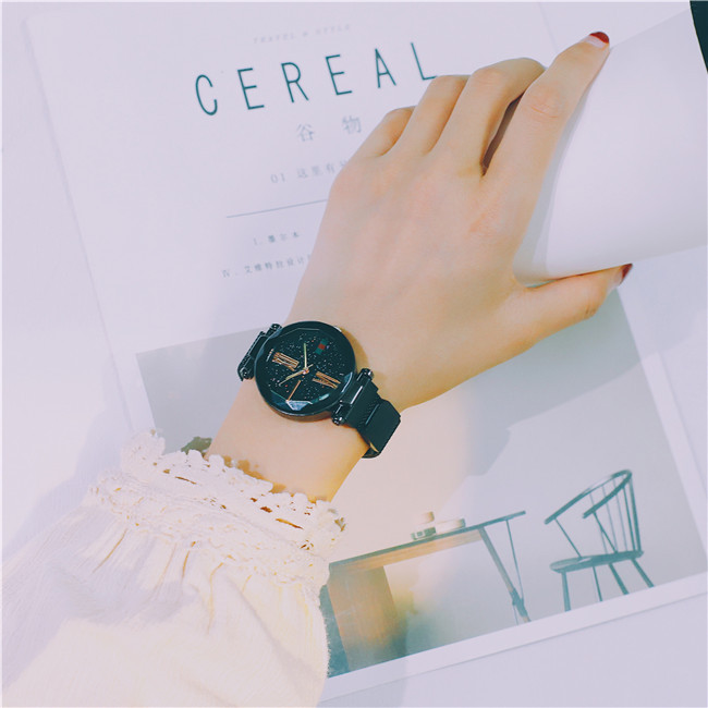 Luxury Rose Gold Women Watches Minimalism Starry sky Magnet Buckle Fashion Casual Female Wristwatch Waterproof Roman Numeral 20