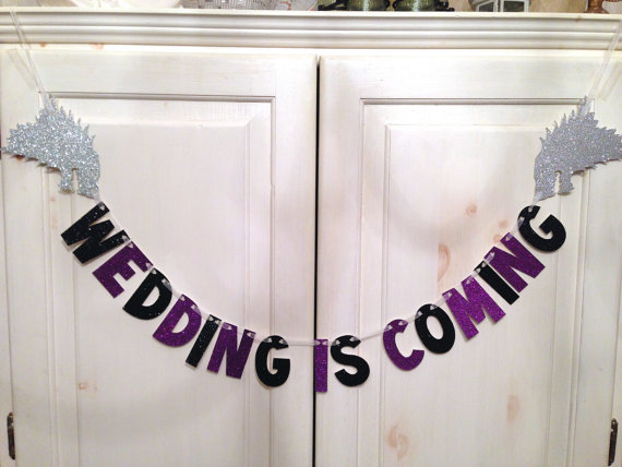 Aliexpress.com : Buy glitter Wedding Is Coming Banner Game