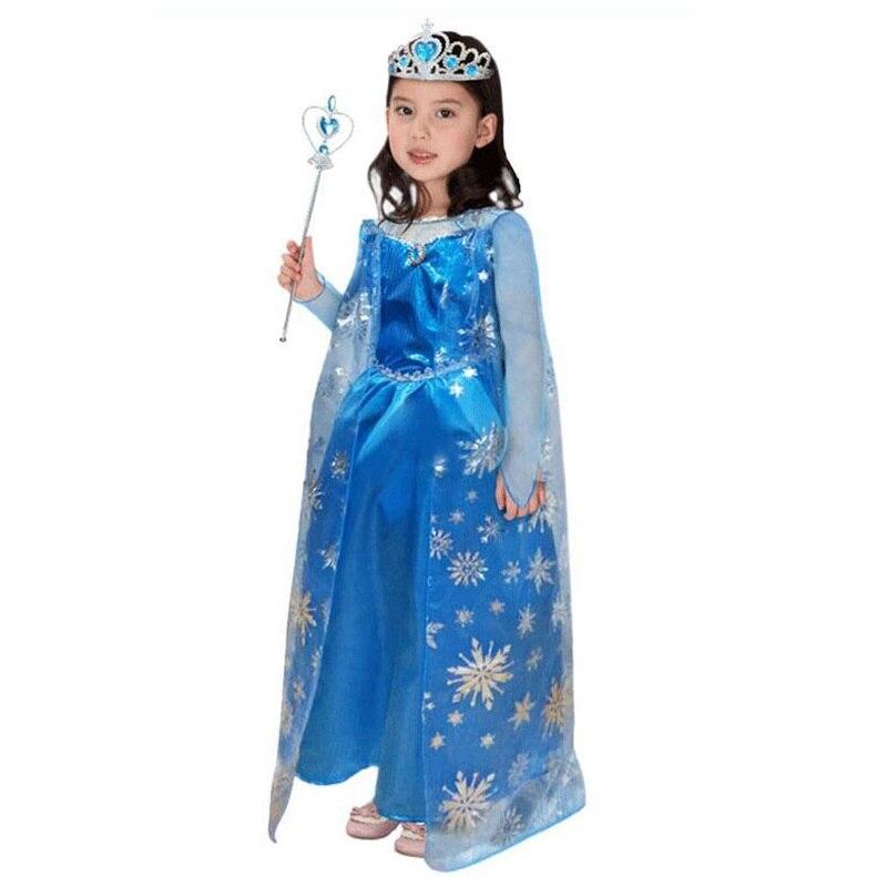 Новое поступление фея платье принцессы маскарадный костюм для девочек спальный Красота праздничная одежда принцессы синий с принтом цельн...