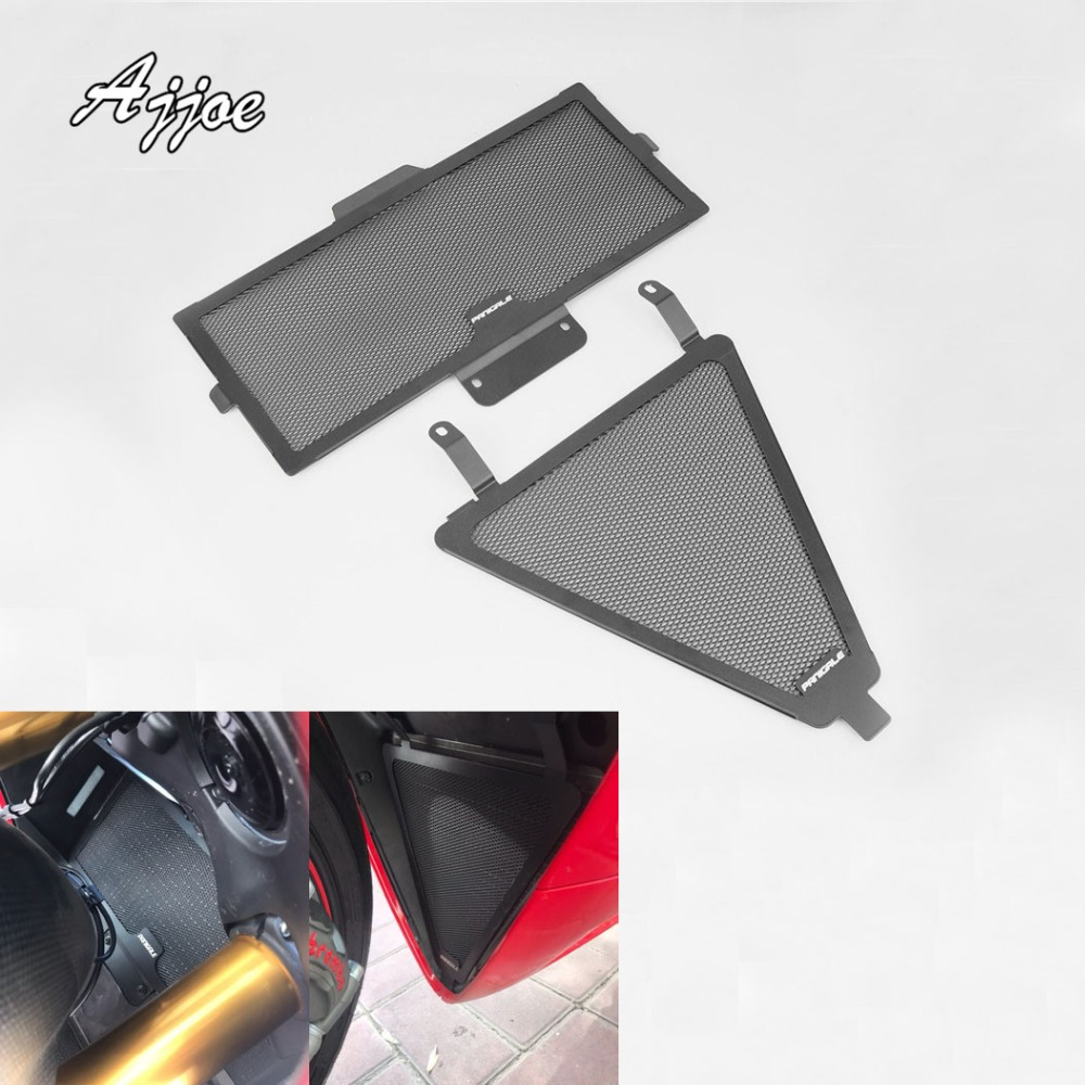 Motorcycle Radiator Grille Guard Cover Protector Simple For Ducati 1199 1299 899 959