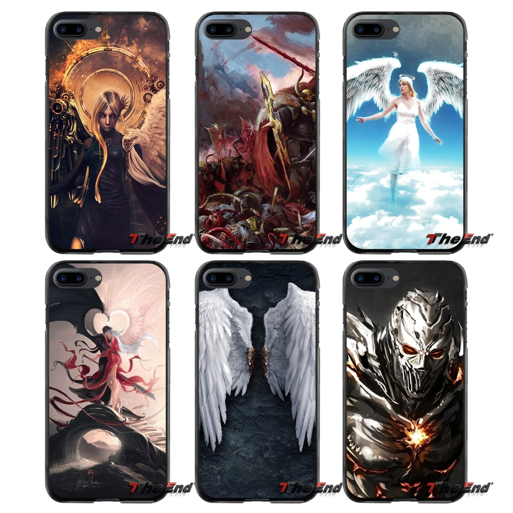 For Huawei P7 P8 P9 P10 Lite Plus 2017 2016 Honor 5C 6 4X 5X Mate 8 7 9 Angels Vs. Demon ...