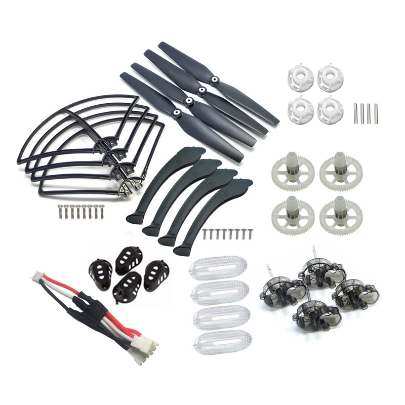 4 Color Full Set SYMA X8 Parts Fit for X8C X8W X8G X8HC X8HW X8HG Propeller Gear Motor Frame Landing Gear Motor Cover ect. propeller protective guard landing skid for x8c x8w x8g x8hg white