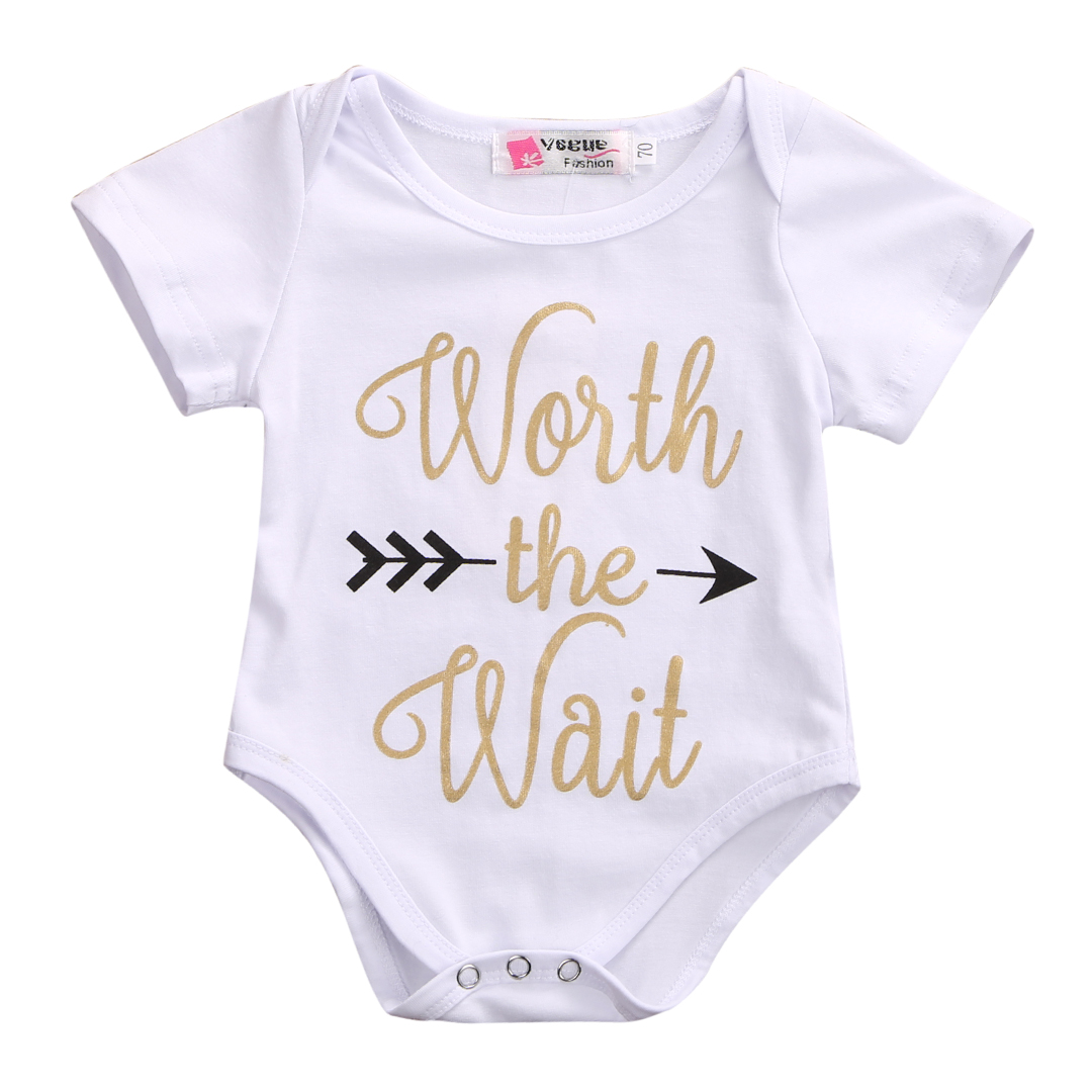 Newborn Baby Short sleeve Cotton   Romper   Boys Girls Summer Jumpsuit Kids Clothes Outfit Set
