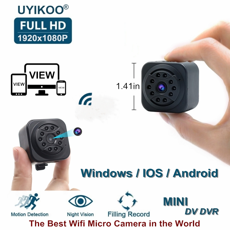 New Wifi Mini Camera 1080P HD Remote Playback Video Small Micro Cam With Motion Detection and Night Vision Home Monitor PK SQ13 все цены
