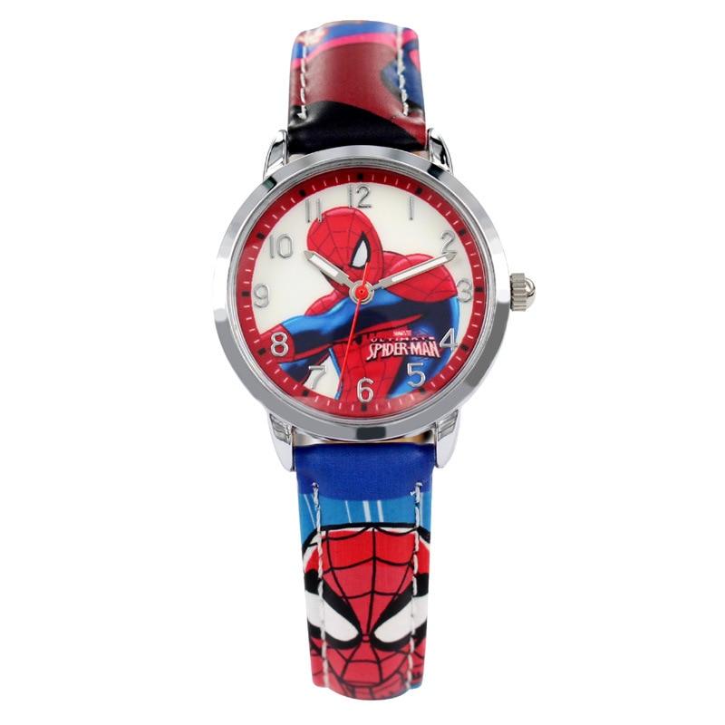Disney brand watches Quartz 30m waterproof Boy Spiderman Cartoon Anime kids watches Captain America 3