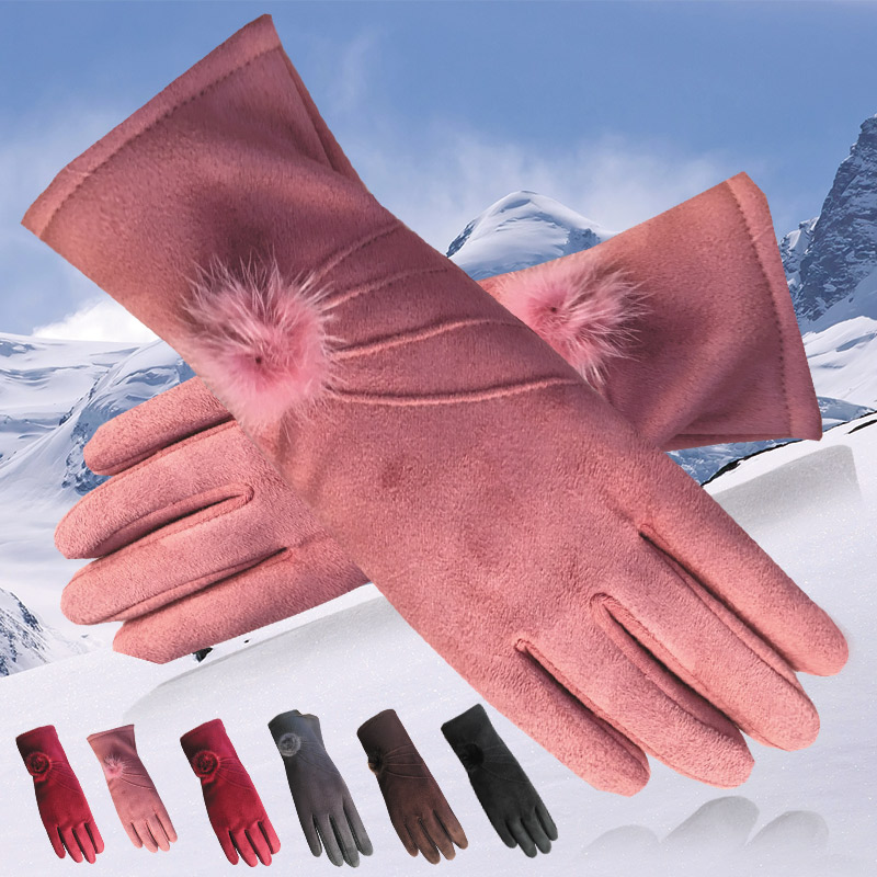 Winter Long Genuine Leather Gloves s