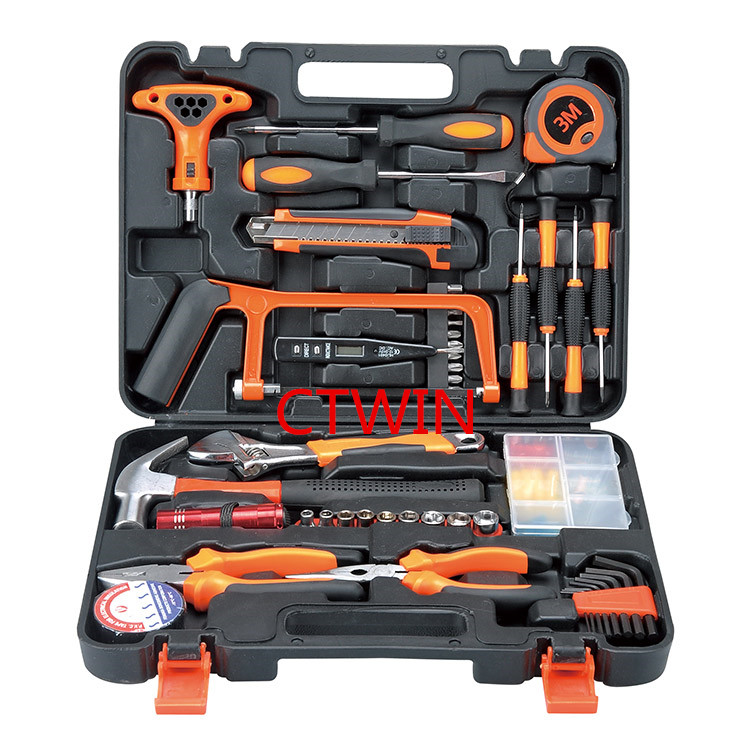 Manufacturers Selling 82 PCS Practical Toolbox Household Hardware Hand Tools Combination Suit Maintenance Tools Set sata 21pcs hardware hand tools household toolbox set of family 21 combination set pdy06501