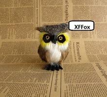 10 pieces a lot cute simulation owl models polyethylene&fur real life dolls gift about 8x6x9cm xf1002