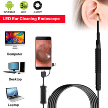 Ear Cleaning Endoscope 3 in1 USB HD Visual Spoon 3.9mm Mini Camera Android