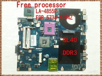 LA-4855P for acer 5734 5734Z laptop motherboard GL40 DDR3 Free cpu PAWF5 LA-4855P main board GL40 DDR3 60 days warranty