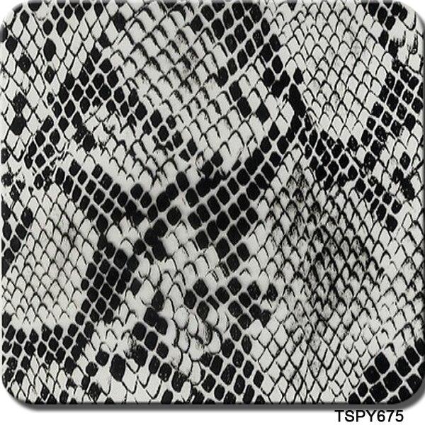 Free Shipping CSH675 0.5m*2m/10m Grey Snake Skin Liquid Image Hydrographic Films Water Transfer Film
