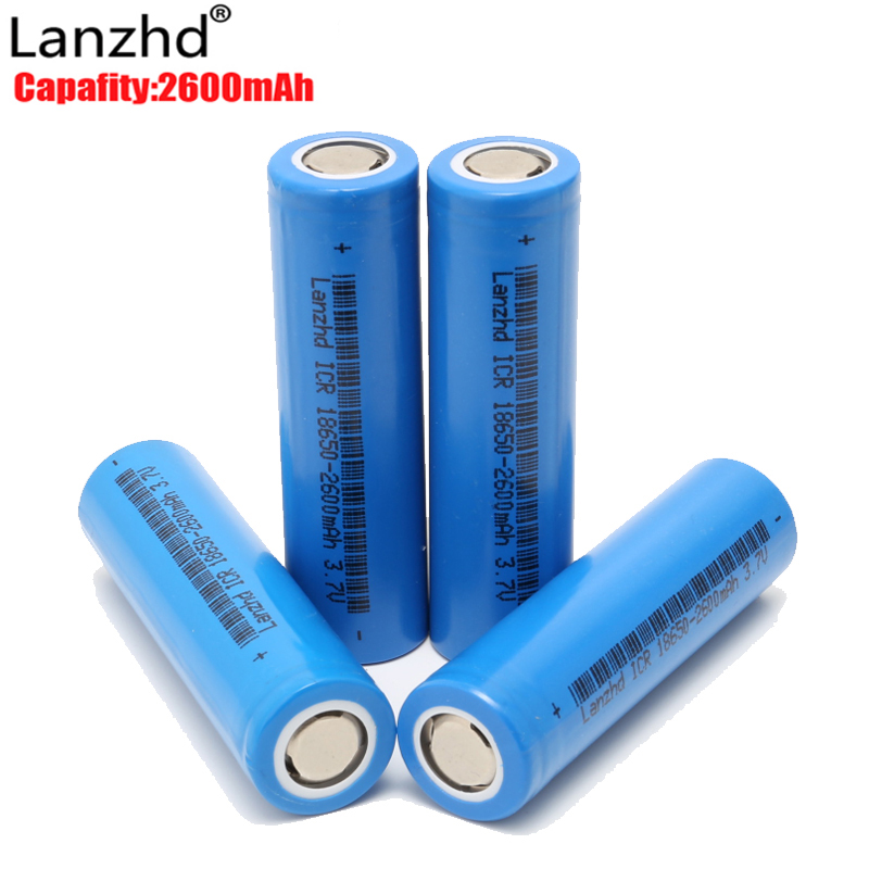 Rechargeable battery 18650 For Samsung 18650 lithium 3.7V ICR18650 2600mAh Li lon Rechargeable Batteries Li-lon 26F image