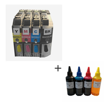 (RCB-LC223) refillable ink cartridge for Brother LC223 LC221 LC 223 221 DCP-4120DW MFC-J4420DW MFC-J4620DW MFC-J4625DW KCMY refillable cartridge chip resetter for brother lc223 lc203 lc213 lc233 empty cartridge for brother mfc j4420dw mfc j5320dw