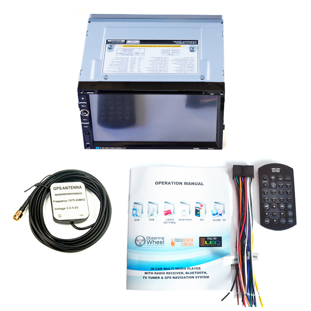 Image 4 - HEVXM/F6080 6,95 дюймовый автомобильный DVD плеер навигации автомобилей радио мультимедиа MP5 MP3 играть gps автомобильный навигатор-in GPS для транспорта from Автомобили и мотоциклы