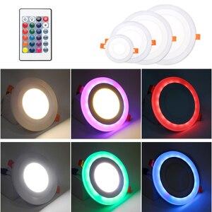 Image 4 - Plafonnier Ultra mince en acrylique, éclairage de plafond, montage en Surface, éclairage de plafond sur panneau, LED couleurs RGBW RGBW/ww, avec télécommande RGB, LED, AC85 265V