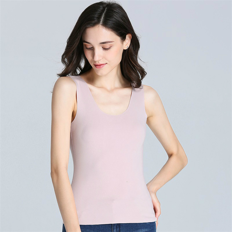 Korean Seamless Tank Top Women Autumn Winter Women Clothes Causal Warm Simple Style Cashmere Pullover Female Tank Top XXL Size in Tank Tops from Women 39 s Clothing