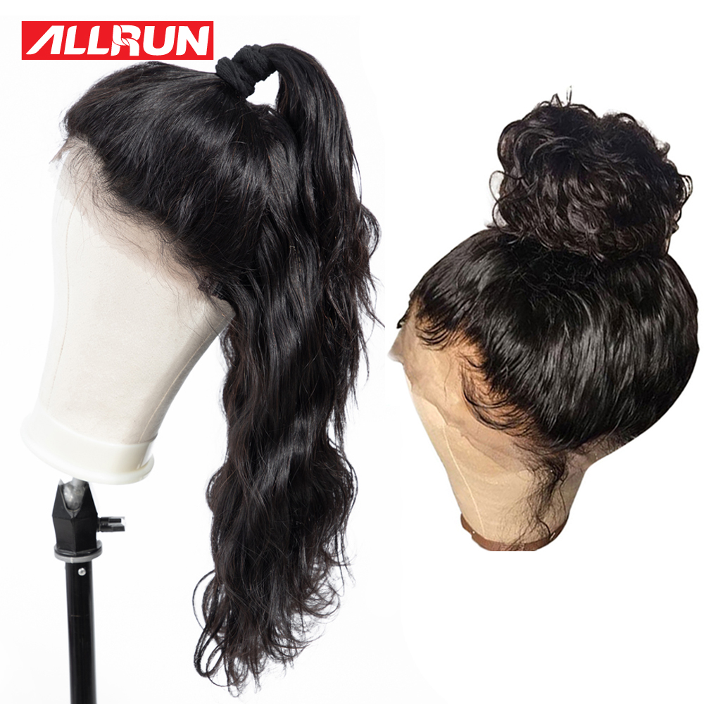 360 Lace Frontal Wig Brazilian Body Wave 360 Full Lace Front Human Hair Wigs For Black