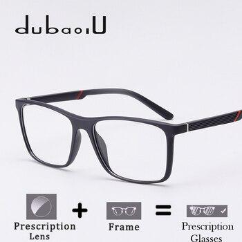fb25ddd10 Homens Óculos de Prescrição Fotocromáticas Multifocal Progressiva TR90 Anti  Azul Claro Óptica Prescrição Óculos # MZ01-05