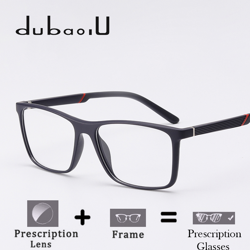 TR90 Men Prescription Spectacles Photochromic Progressive Multifocal Anti Blue Optical Clear Prescription Eyeglasses #MZ01-05