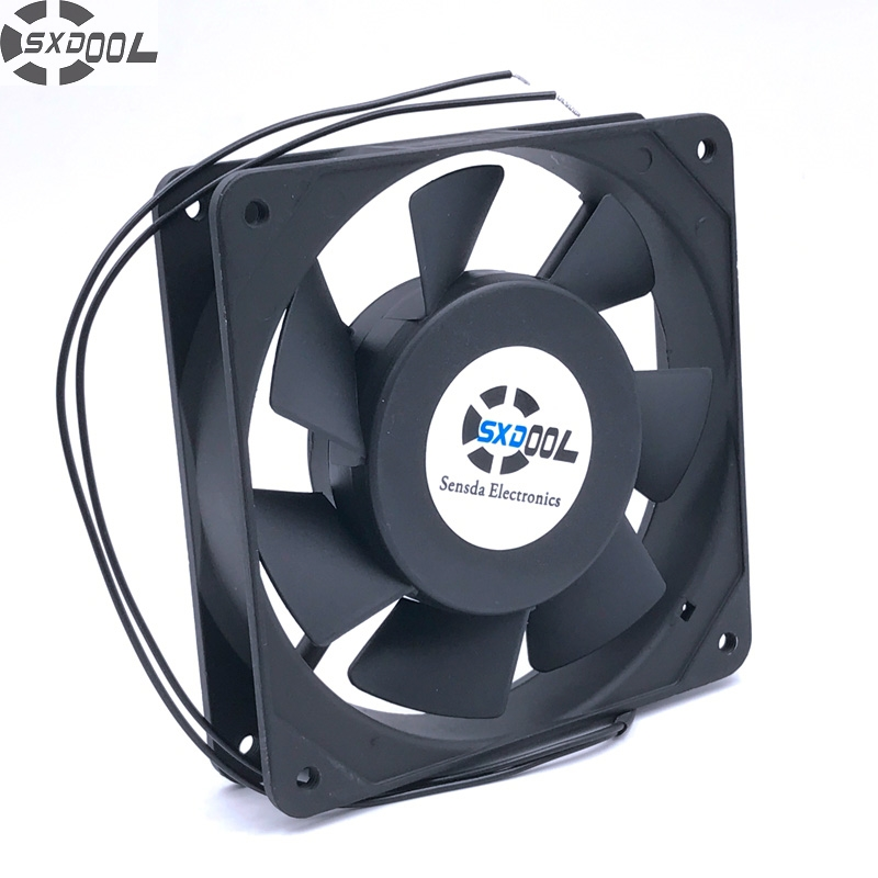 fan cooler 120 mm SXDOOL SJ1225HA2 12cm 12025 1225 AC 220V 240V 50/60Hz 0.1A Case server inverter cooling fan cooling fan 220v 120mm aa1252mb at adda 120 120 25mm 12025 12cm ac fan axial fan outlet