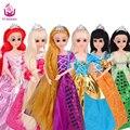 UCanaan Куклы 10 Различных Моделей на Выбор Золушка Рапунцель Русалочка Белоснежка Красоты Принцесса Лучший Друг Играть с Детьми