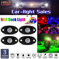 RGB LED Rock Lights with Bluetooth Control, Timing Function, Music Mode Neon LED Underglow Light Kits