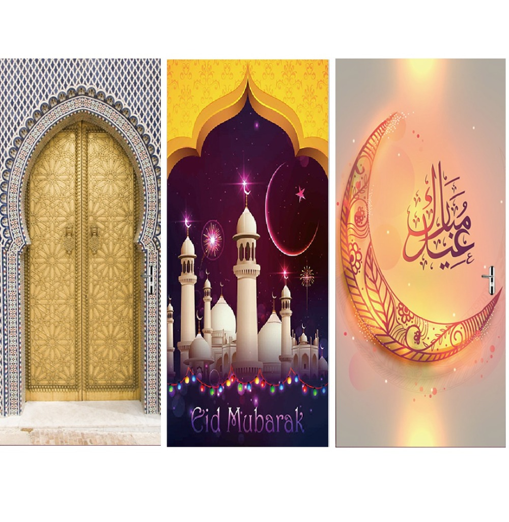 Muslim Moslem Religion Home Decor Furniture Big Wall Stickers Waterproof Vinyl Wallpaper Pvc Self Adhesive Film Factory Supply-in Wall Stickers from Home & Garden