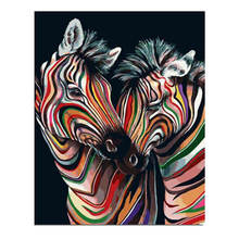Diy Canvas Painting For Wall Decoration,Painting By Number 40x50cm,Colorful Zebra,Paint Kits Adults