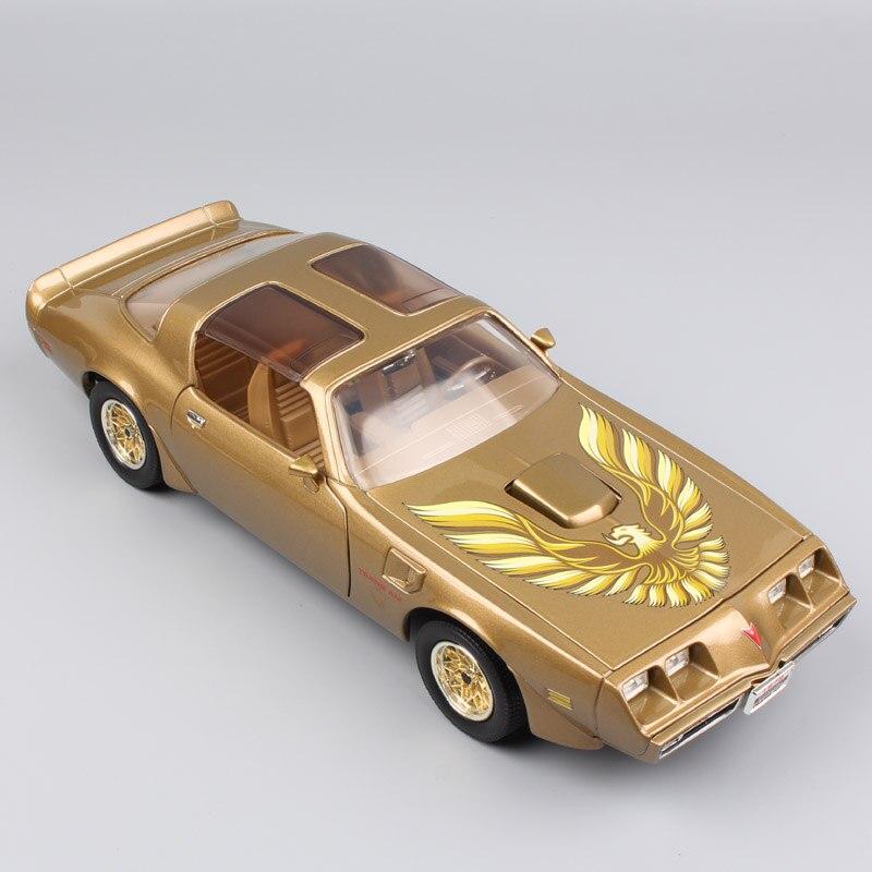 1:18 marque de luxe à grande échelle grand classique Pontiac 1979 Firebird trans AM vintage voiture véhicules moulé sous pression modèles jouet pour enfant garçons