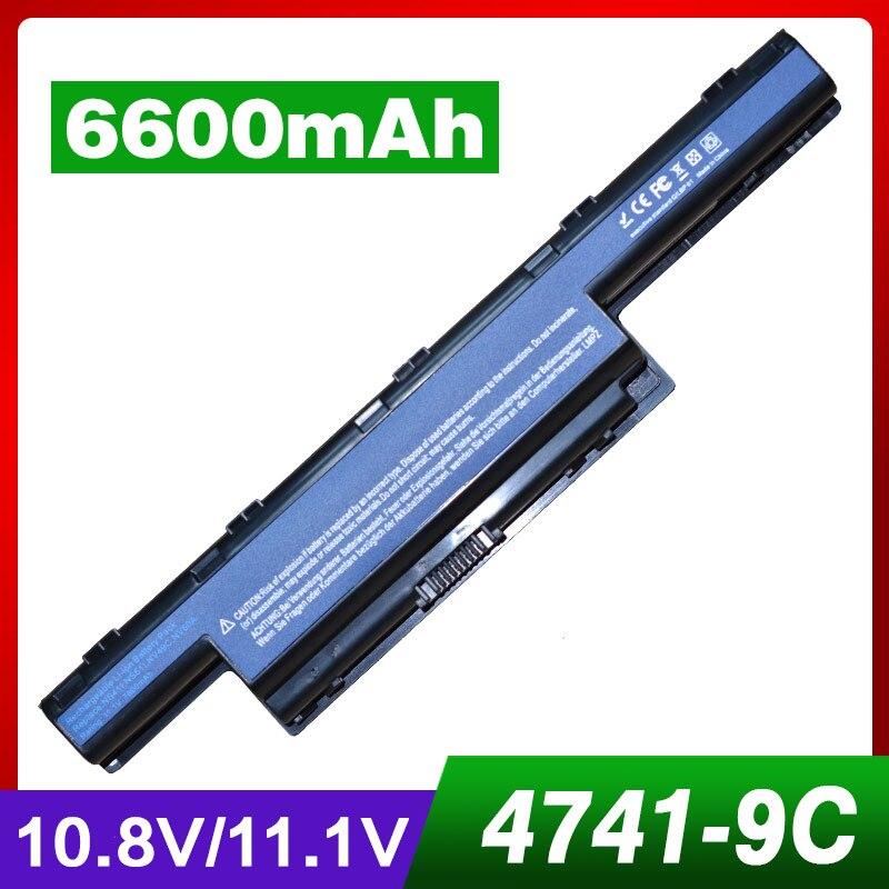 9 cellulaire batterie d'ordinateur portable pour Acer Aspire V3 571g AS10D75 31CR19/65-2 AS10D3E 31CR19/66 -2 AK.006BT. 075 AK.006BT. 080 AS10D 5733z