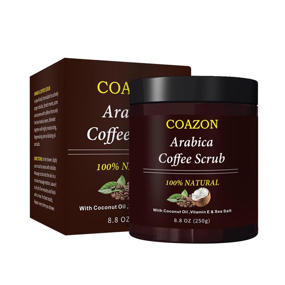 250g Coffee Scrub Body Scrub Cream Facial Dead Sea Salt For Exfoliating Whitening Moisturizing Anti Cellulite Treatment Acne 6