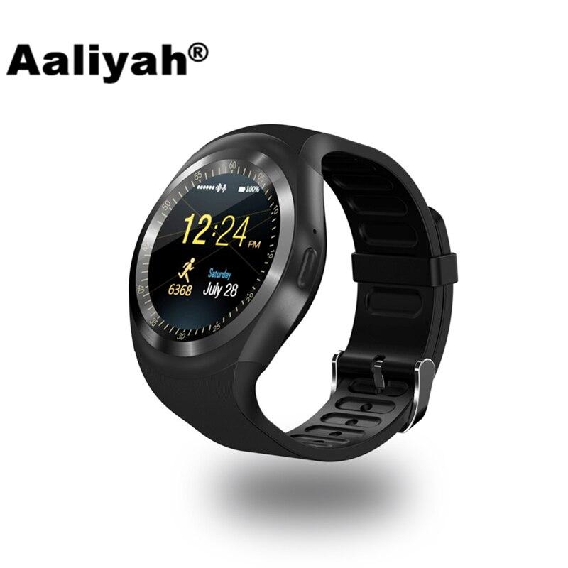 imágenes para [Aaliyah] D3 Bluetooth Apoyo TF Tarjeta SIM Reloj Inteligente Smartwatch Sync SMS Facebook con Pasómetro para IOS Android Smartphones