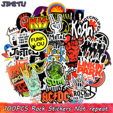 100 PCS Rock Sticker Music Retro Band Graffiti JDM Stickers to DIY Guitar Motorcycle Laptop Luggage Skateboard Car Snowboard(China)