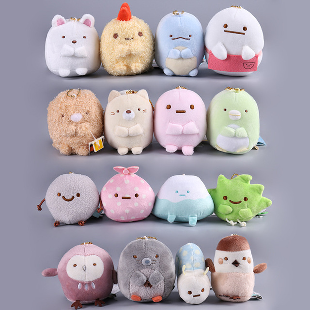 8cm Kawaii Japanese Anime Sumikko Gurashi San-x Handheld Biological Stuffed Plush Toy Cute Cartoon Animal Doll For Kid Gift