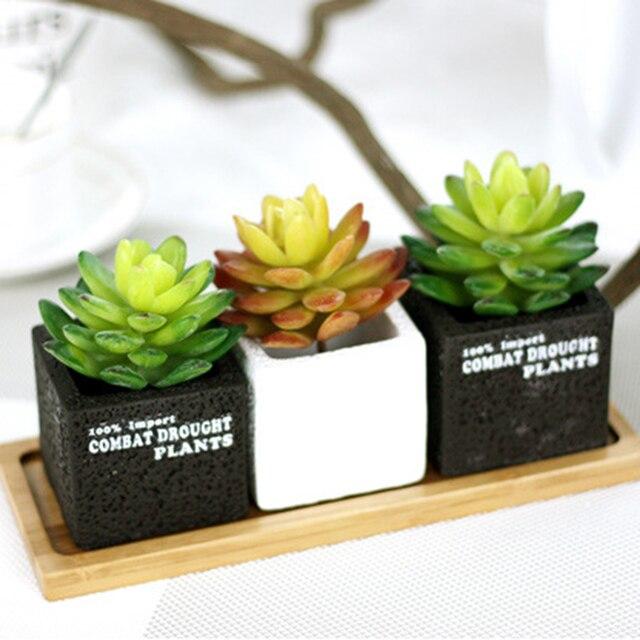 Довольно Очаровательный Лотос Кактус Растения, Искусственные Сочные Кактусов для Office для Дома Деко