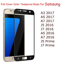 GerTong Full Cover Tempered Glass For Samsung Galaxy A3 A5 A7 2017 A5 A7 J5 J7