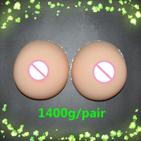 1400g/pair Realistic Breast Forms Artificial Breast False Breasts Fake Boobs Breast Forms Silicone For Crossdresser