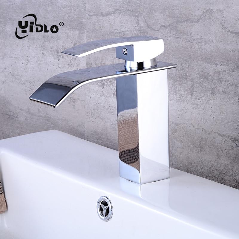 vente cascade salle de bains robinet lavabo robinet en laiton pont mont vanity navire puits mitigeur froide et l eau chaude du robinet a3 pas cher en ligne