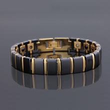 Trendy Bracelet Healing Magnetic for Lady 4 Health Care Elements(Magnetic,FIR,Germanium,Negative ion) Hand Chain