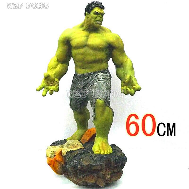 60 см Мстители Зеленый Халк Сумасшедшие игрушки Фигурки баннер Брюс большая модель супер игрушки в виде героев Кукла Коллекция украшения