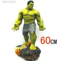 60 см Мстители Зеленый Халк с ума игрушки Фигурки Брюс Баннер большая модель супер герой игрушки куклы Коллекция украшения Brinquedos