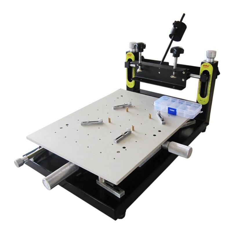 PUHUI Haute Précision Imprimante Pâte À Braser PCB bord de soudure 300x400mm Manuel Pochoir Imprimante Machine D'impression De la Soie