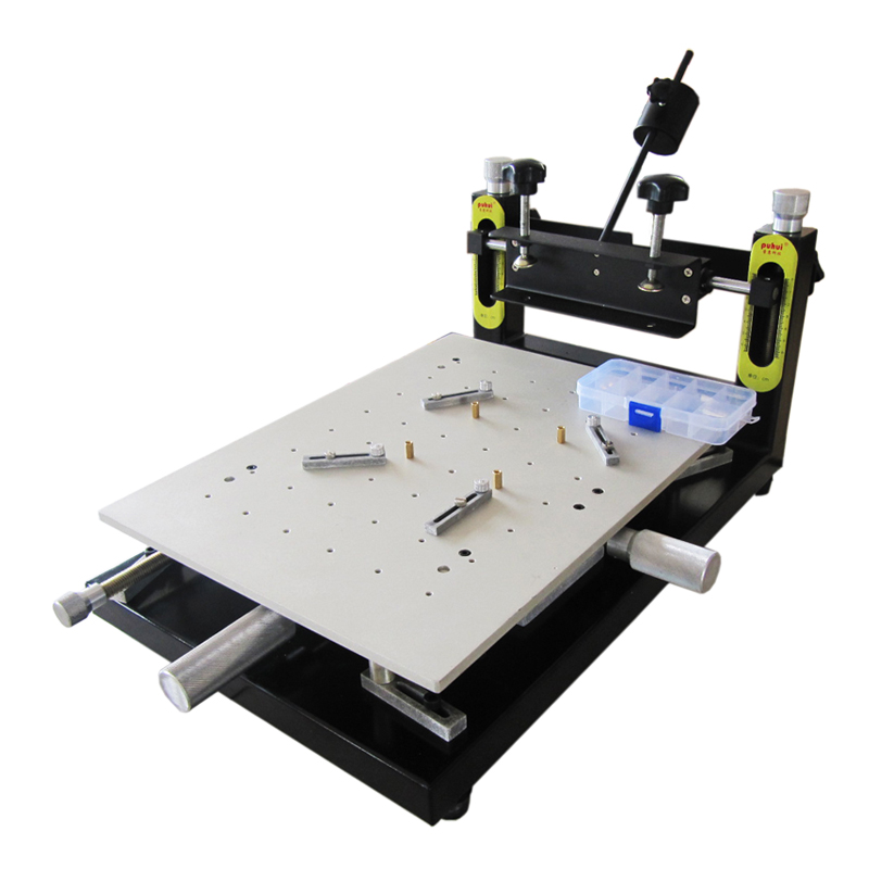 PUHUI High Precision Solder Paste Printer PCB board welding 300x400mm Manual Stencil Printer Silk Printing Machine цена