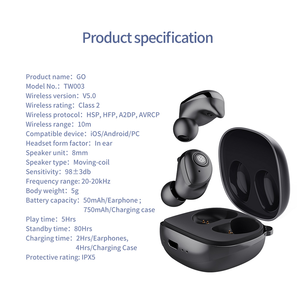 New Nillkin TWS Earphone Auto Pair Bluetooth 5.0 Wireless IPX5 Stereo Handsfree Call Charging Case Volume Control Share Music-in Bluetooth Earphones & Headphones from Consumer Electronics    3