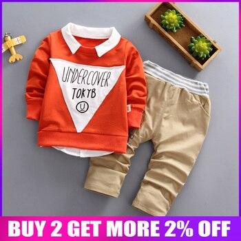 0941e56a0 BibiCola bebé niños ropa de otoño conjunto de moda formal trajes de chándal de  algodón de ropa infantil ropa toddle los niños traje de caballero