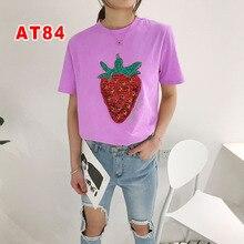 Классические женские футболки высокого качества для отдыха с короткими рукавами AT8