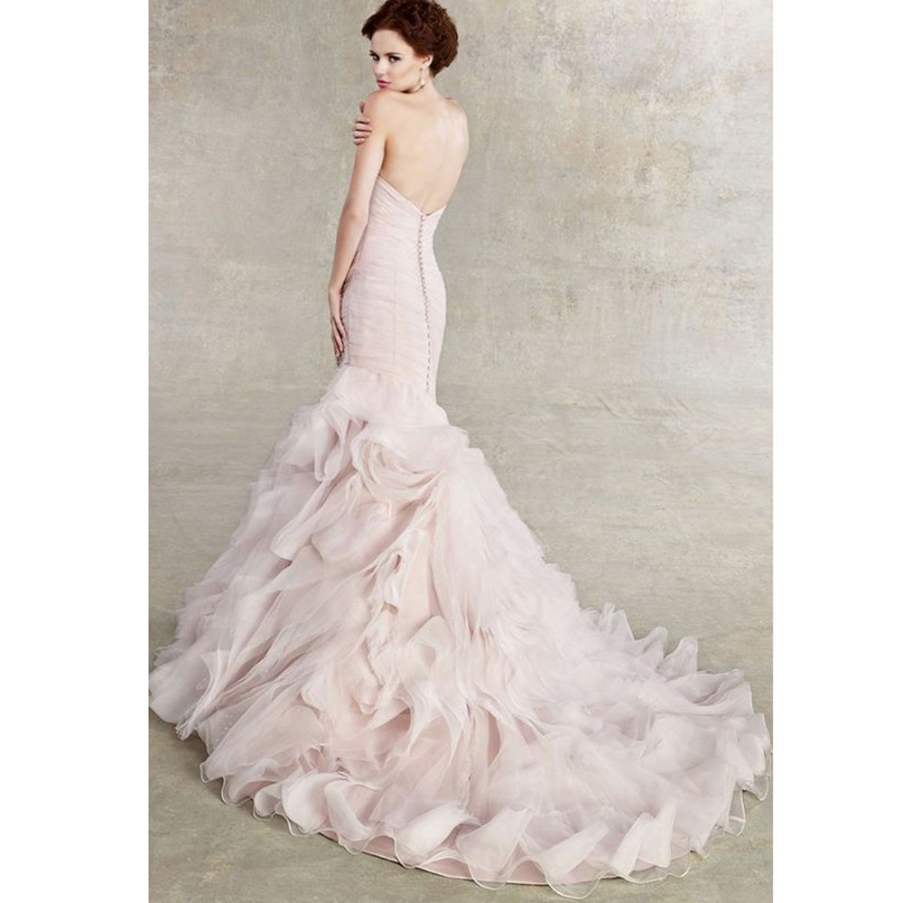 2017 Couture Blush Pink Wedding Dress Fabulous Wedding Gown Color
