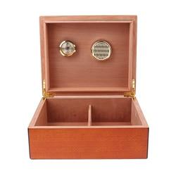 Humidificateur à cigare en cèdre espagnol, humidificateur avec hygromètre, boîte à cigare, marron